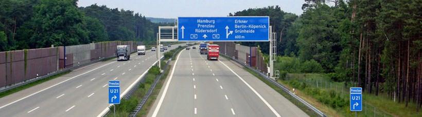 德国高速从柏林至汉堡其中一段路况