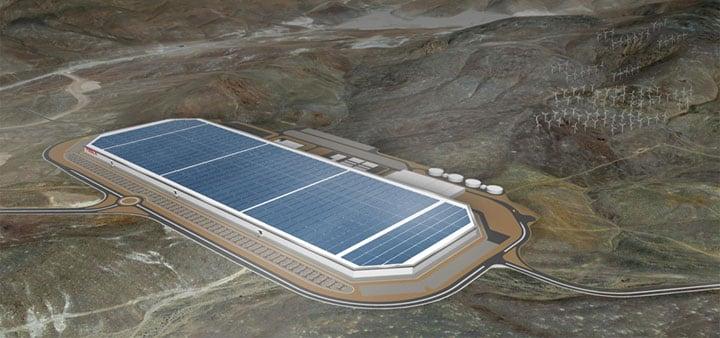 特斯拉 Gigafactory 超级电池工厂