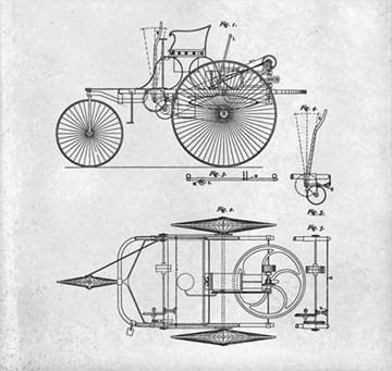 卡尔·本茨造世界第一辆汽车专利